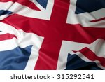 closeup of union jack flag  | Shutterstock . vector #315292541