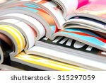 stack of magazines | Shutterstock . vector #315297059