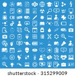 100 science icons set in simple ... | Shutterstock .eps vector #315299009
