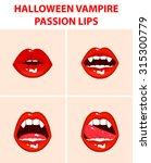 halloween vampire set of 4 sexy ...   Shutterstock .eps vector #315300779