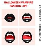halloween vampire set of 4 sexy ...   Shutterstock .eps vector #315300785