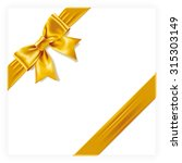 yellow gift bow   Shutterstock .eps vector #315303149