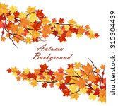 autumn  frame with maple leaves ... | Shutterstock .eps vector #315304439