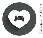 joystick sign icon. like video...