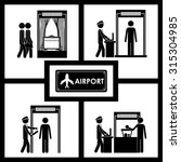 airport concept about travel... | Shutterstock .eps vector #315304985