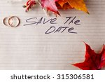 invitation wedding card with... | Shutterstock . vector #315306581