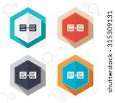 hexagon buttons. export file... | Shutterstock .eps vector #315309131