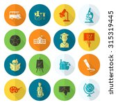 school and education icon set.... | Shutterstock .eps vector #315319445