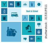 school and education icon set.... | Shutterstock .eps vector #315319511