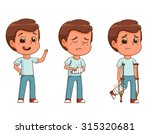 boy with fractured arm leg...   Shutterstock .eps vector #315320681