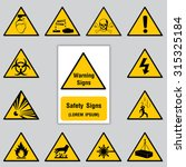 safety sign icon for poster... | Shutterstock .eps vector #315325184