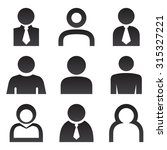 icon map pointer set vector... | Shutterstock .eps vector #315327221