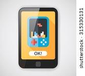 handheld game consoles flat... | Shutterstock .eps vector #315330131