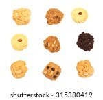 sweet cookie isolated on white... | Shutterstock . vector #315330419