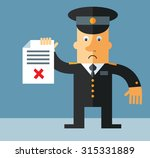 officer   holding checklist... | Shutterstock .eps vector #315331889