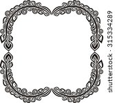 nature pattern frame leaves... | Shutterstock .eps vector #315334289