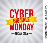 cyber monday deals design ... | Shutterstock .eps vector #315336497