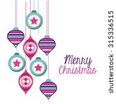 happy merry christmas card... | Shutterstock .eps vector #315336515