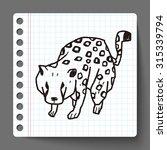 leopard doodle   Shutterstock . vector #315339794