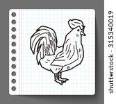 chicken doodle | Shutterstock . vector #315340019