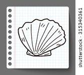shell doodle | Shutterstock . vector #315340361