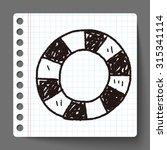 lifebuoy doodle | Shutterstock . vector #315341114