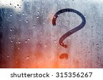 autumn rain  the inscription on ... | Shutterstock . vector #315356267
