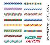 set of brush pattern | Shutterstock .eps vector #315360227