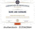 vector certificate template. | Shutterstock .eps vector #315362864