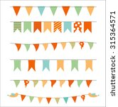 party flags set vector... | Shutterstock .eps vector #315364571