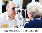 Постер, плакат: Adult optometry male optometrist