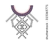 neckline design in ethnic style ... | Shutterstock .eps vector #315365771