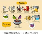 sauce  step by step cooking ... | Shutterstock .eps vector #315371804