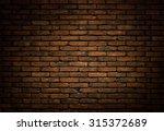 dark brick wall background ... | Shutterstock . vector #315372689