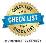 check list 3d gold badge with...
