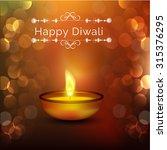 happy diwali illustration ... | Shutterstock .eps vector #315376295