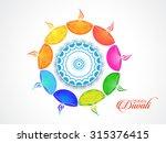 happy diwali illustration ... | Shutterstock .eps vector #315376415