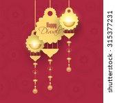 vector illustration for diwali... | Shutterstock .eps vector #315377231