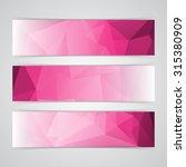 modern pink vector banner low... | Shutterstock .eps vector #315380909