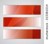 modern red vector banner low... | Shutterstock .eps vector #315381014