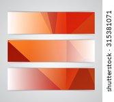 modern red vector banner low... | Shutterstock .eps vector #315381071