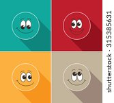 set of happy face icons | Shutterstock .eps vector #315385631