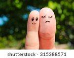 finger art of couple. the... | Shutterstock . vector #315388571