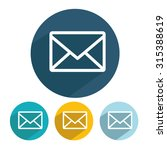 set envelope email icon vector... | Shutterstock .eps vector #315388619