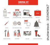survival emergency kit for... | Shutterstock .eps vector #315409067