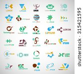 unusual icons set   isolated on ... | Shutterstock .eps vector #315421595