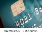 close up of a green credit card    Shutterstock . vector #315423401