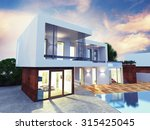 project of a luxury villa under ... | Shutterstock . vector #315425045