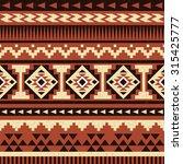 seamless ethnic pattern design. ... | Shutterstock .eps vector #315425777
