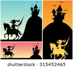 knight backgrounds  set of... | Shutterstock .eps vector #315452465